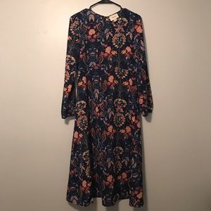 i. Madeline long floral boho dress